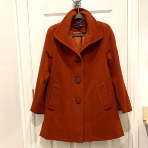 Ellen Tracy Spice Wool/Angora Coat